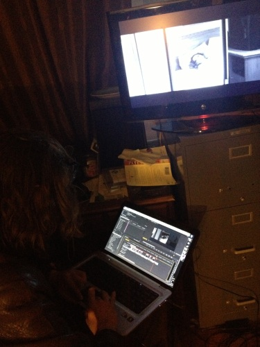 Montetré editing the opening sequence.